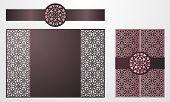Laser Cut Ornamental Vector Template. Luxury Greeting Card, Envelope Or Wedding Invitation Card Temp poster