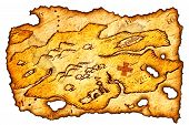 picture of treasure map  - piece of a burnt treasure map - JPG