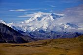 stock photo of denali national park  - Mount McKinley in Denali National Park Alska - JPG