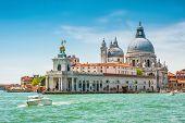 Venice In Summer, Italy. Grand Canal, Punta Della Dogana And Basilica Di Santa Maria Della Salute. V poster