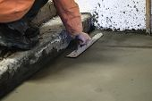 The Builders Poured Concrete In The Garage poster