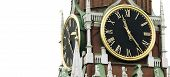 Old Clock On Tower (Russia, Kremlin Chimes) poster