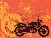 Motorbike grungy background vector