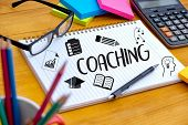 Coaching Training Planning Learning Coaching Business Guide Instructor Leader poster