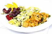 Greek Style Omelette With Assorted Fruits