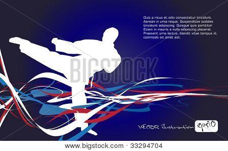 Постер, плакат: Спорт векторные иллюстрации, холст на подрамнике