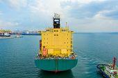 Aerial View Cargo Ship Of Business Logistic Transportation Sea Freight,cargo Ship, Cargo Container I poster