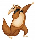 Illustration of a comical anteater - EPS VECTOR format also available in my portfolio.
