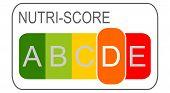 Nutri-score Label D, 5-colour Nutrition Label - Illustration poster