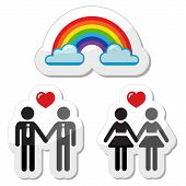 stock photo of gay symbol  - Gay marrage - JPG