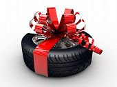 Tyre With Ribbon