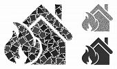 Realty Fire Disaster Composition Of Trembly Items In Different Sizes And Shades, Based On Realty Fir poster