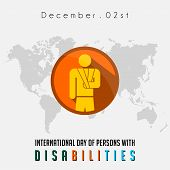 International Day Of Person With Disabilities With The Person Who Disabilities Of Broken Arm poster