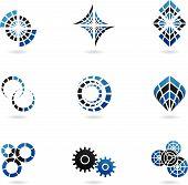 9 Blue Logos poster