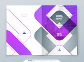 Purple Brochure Design. A4 Cover Template For Brochure, Report, Catalog, Magazine. Brochure Layout W poster