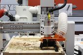 Cnc Milling Machine. Milling And Engraving Installation. Cnc Woodworking Machine. Machine For High-q poster