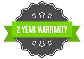 2 Year Warranty Isolated Seal. 2 Year Warranty Green Label. 2 Year Warranty poster