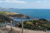 Landscape Photo Of Lulworth Cove On The  Dorset Coast poster