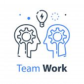 Team Work, Communication Or Negotiation, Common Ground, Mutual Understanding, Creative Solution, Thi poster