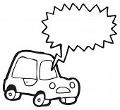 cartoon car honking horn