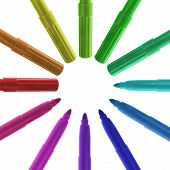 Circle Of Colored Markers