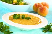 Refreshing Cold Peach Soup