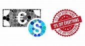 Mosaic Cash And Grunge Stamp Seal With 15 Percent Off Everything Phrase. Mosaic Vector Is Created Wi poster