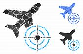 Aviation Target Composition Of Circle Elements In Variable Sizes And Color Tints, Based On Aviation  poster