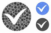 Apply Composition Of Round Dots In Various Sizes And Color Tinges, Based On Apply Icon. Vector Round poster