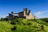 Sightseeing Of Estonia. Rakvere Medieval Castle Is A Popular Architectural And Tourist Attraction poster