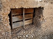 picture of lockups  - Picture present an old lockup prison window - JPG