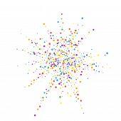 Festive Confetti. Celebration Stars. Rainbow Confetti On White Background. Brilliant Festive Overlay poster