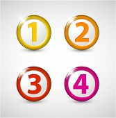 One two three four - vector progress icons for four steps