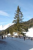 A general view of the ski resort of Crans Montana in the Swiss Alps in Valais in Switzerland.