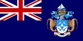 Sovereign state flag of dependent country of Tristan da Cunha in official colors.
