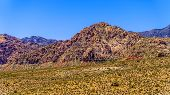 Landscape View Of White Rock Hills And Wilson Ridge Mountains From Red Rock Canyon Overlook In Red R poster