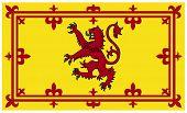 Royal Scottish standard or flag isolated on white background.