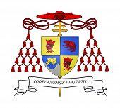 Kardinal Ratzinger Wappen isolated on white Background.