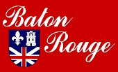 City flag of Baton Rouge city in the U.S.A.