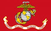 stock photo of corps  - Illustration of the United States Marine Corps flag - JPG