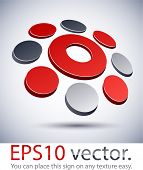 Vector illustration of 3D abstract