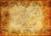 Oriental Vintage Background With Dragon