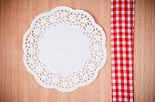 Hand-made Background With White Napkin