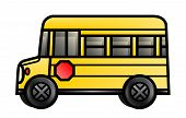 Ônibus escolar de curto