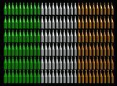 Abstract whisky bottles with Irish flag illustration