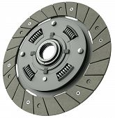 picture of abrasion  - Car clutch plate isolated on a white background - JPG