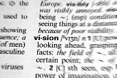 stock photo of pronunciation  - Vision  - JPG