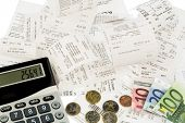 stock photo of receipt  - calculator - JPG