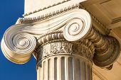stock photo of greek  - Detailed Ancient Greek Ionic Column Close Up - JPG