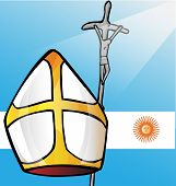 new pope with argentina flag